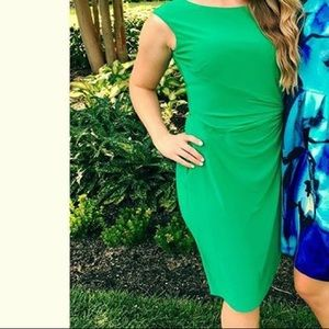 Green wrap style dress